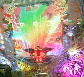 パチンコシンフォギア響きランプ虹色